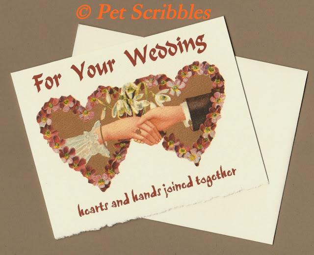 Wedding Congratulations Card, Valentine Wedding   © Pet Scribbles