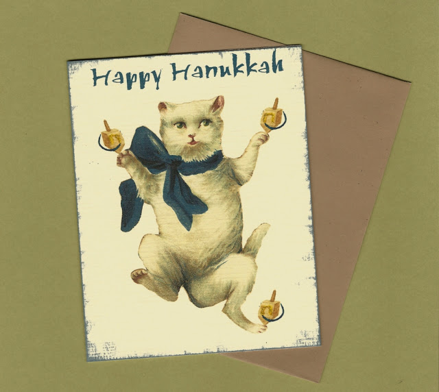 cyber monday etsy hanukkah cards Pet Scribbles