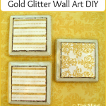 Gold Glitter Wall Art DIY