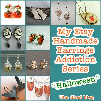 Halloween Earrings on Etsy