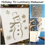 White Christmas: Tin Luminary Makeover with Paint