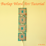 Burlap Word Art Tutorial