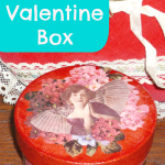 Mod Podge Valentine Box, with Sparkle Mod Podge