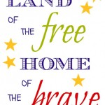 Patriotic Printable (Free) for Memorial Day, Flag Day, Fourth of July