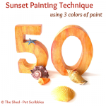 Sunset Painting Technique Using Three Colors
