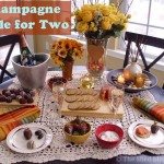 Creating a Romantic Champagne Table for Two