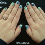 Color Block Nail Art with Sally Hansen #IHeartMyNailArt
