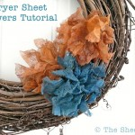 Dryer Sheet Flowers Tutorial