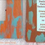 Peeling Paint Technique: Color Comparison