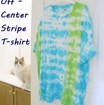 Tie Dye for Men: Off-Center Stripe T-Shirt