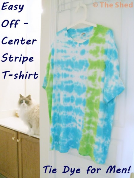 Tie Dye for Men: Off-Center Stripe T-Shirt