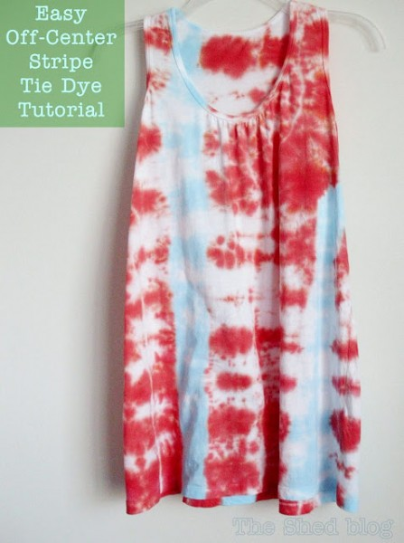 How to Tie Dye an Off-Center Stripe | Pet Scribbles