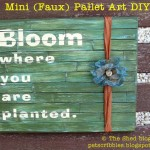 Mini (Faux) Pallet Art DIY