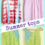 How to Tie Dye Tank Tops, 3 ways!