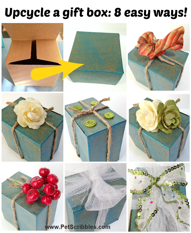 Decorate and upcycle a boring gift box: here's 8 easy ideas!