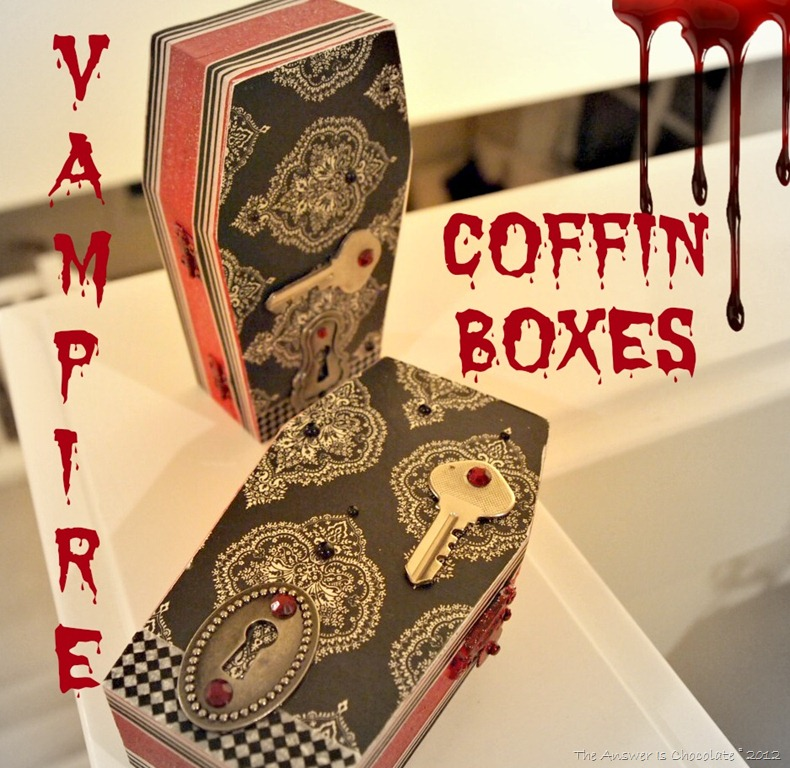 Vampire Coffin Boxes - a Halloween craft by The Answer is Chocolate | www.answerischoco.com