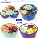 DIY Gifts for Gardeners: vintage seed packet paper maché boxes