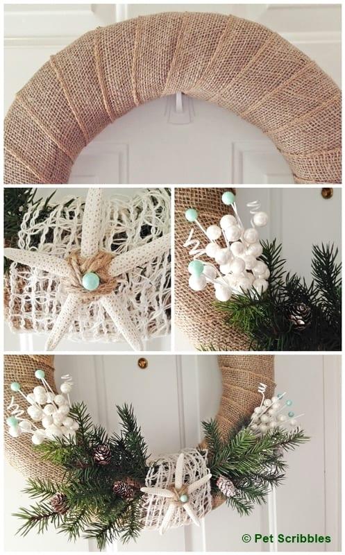 Coastal Winter Wreath DIY