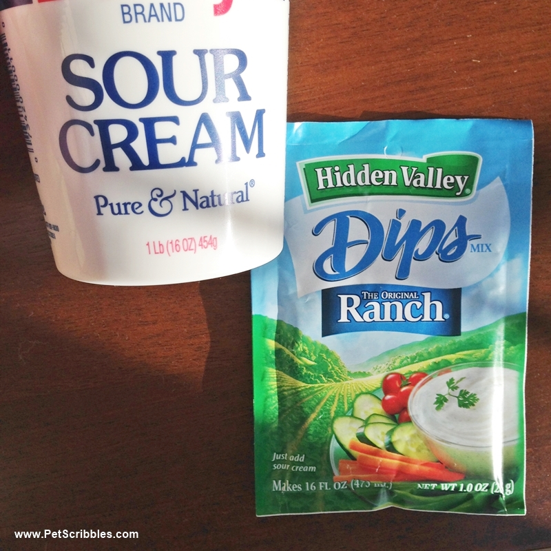 16 oz sour cream + Ranch dip packet = awesome!