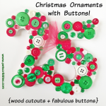 Christmas Ornaments with Buttons!