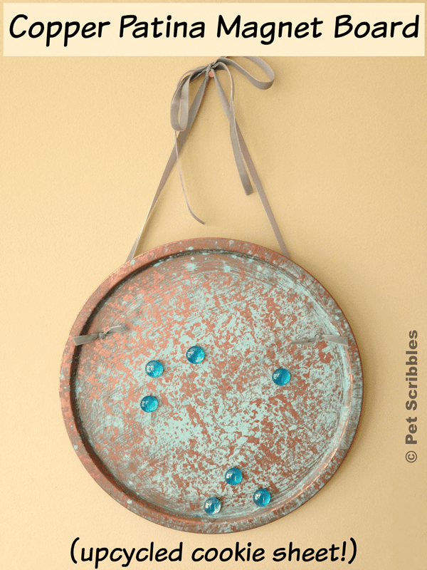 Copper Patina Magnet Board