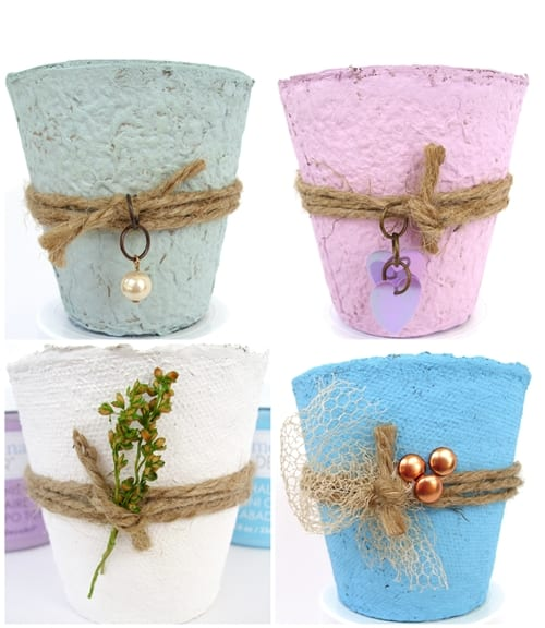 Peat Pot Wedding Favors