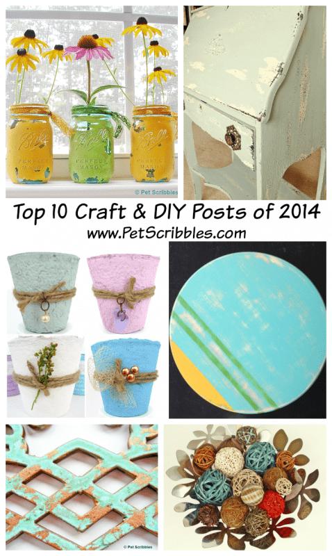 Pet Scribbles 2014 Top Ten Craft and DIY Posts
