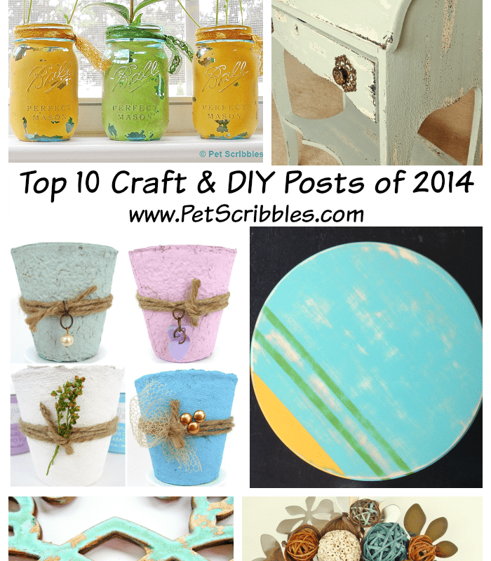 Pet Scribbles 2014 Top Ten Craft and DIY Posts