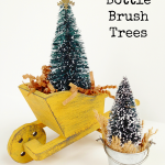Rustic Bottle Brush Trees