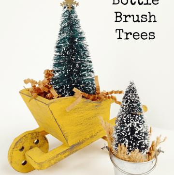 Rustic Bottle Brush Trees