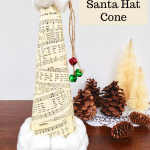 Sheet Music Santa Hat Cone