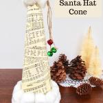 Sheet Music Santa Hat