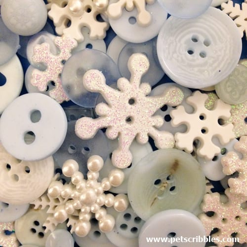 Snowflakes button collection from Buttons Galore & More