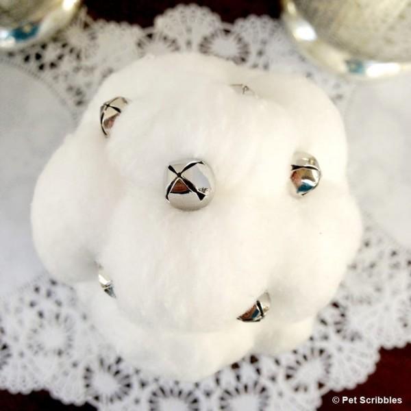 Cotton Ball and Jingle Bell Christmas Tree