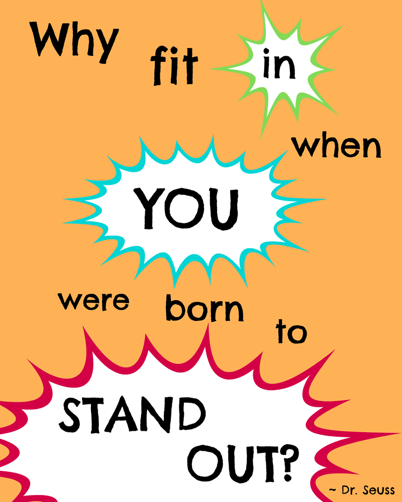 photograph regarding Free Printable Dr Seuss Quotes referred to as My Preferred Dr. Seuss Quotations and a Free of charge Printable! - Canine