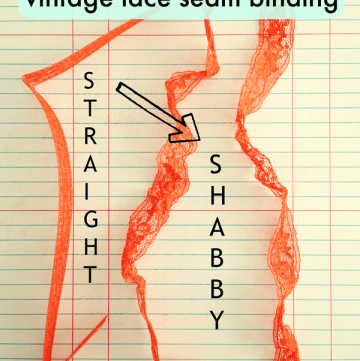 How to crinkle vintage lace seam binding