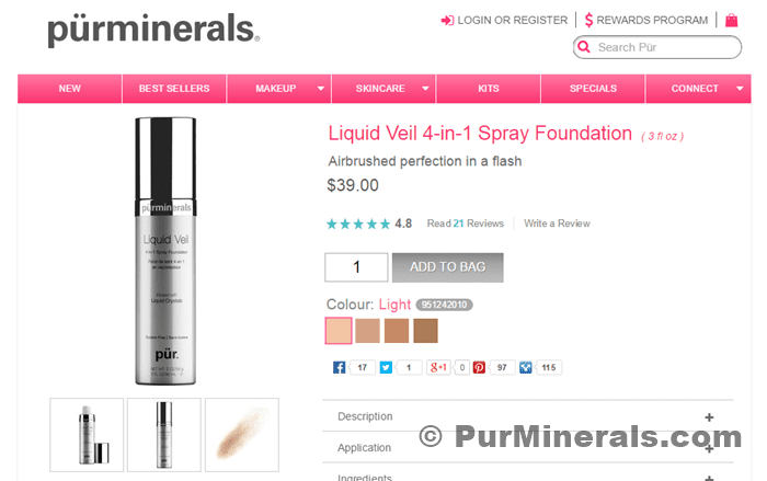 Pur Minerals Liquid Veil Foundation