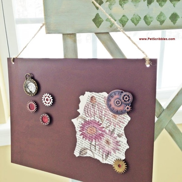 Steampunk Inspired Magnet Board and Magnets