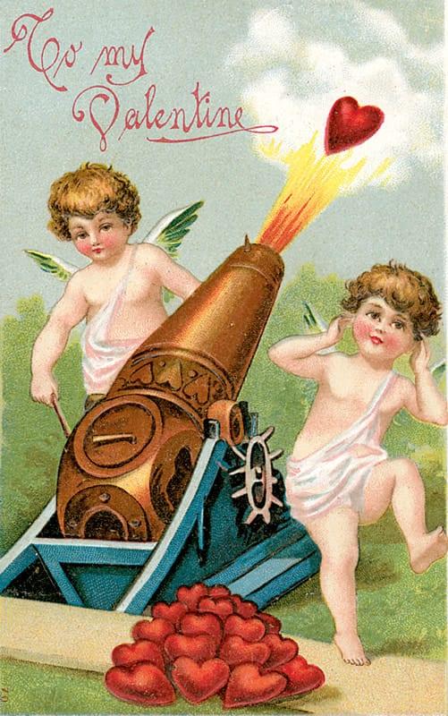 To My Valentine vintage image