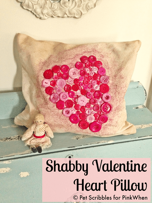 Shabby Valentine Heart Pillow