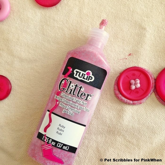 Tulip Ruby Glitter Dimensional Fabric Paint