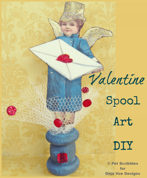 Valentine Spool Art DIY
