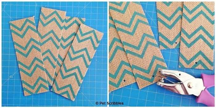 printed burlap bookmarks