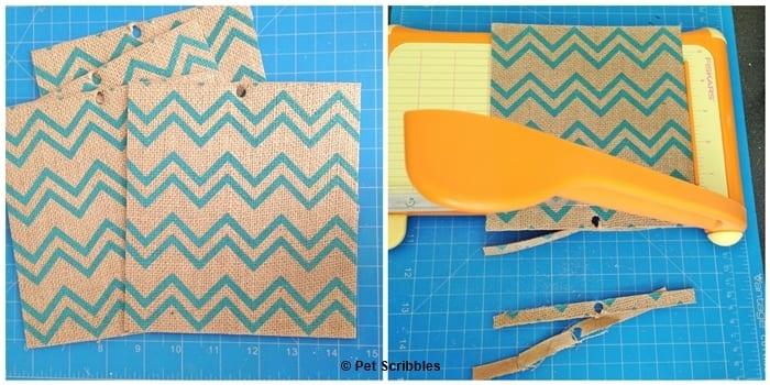 printed burlap squares