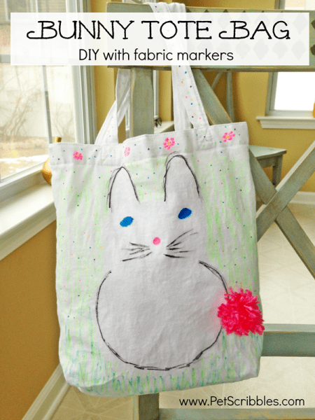 Bunny Tote Bag with ILTC Fabric Markers