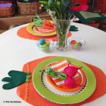 DIY Felt Carrot Placemats