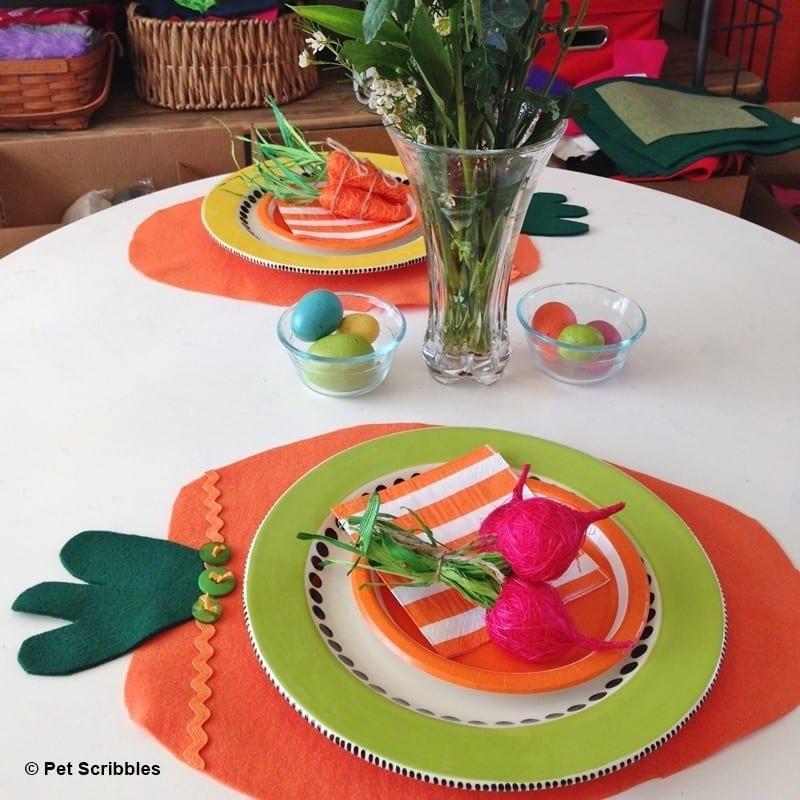 Felt Carrot Placemats DIY