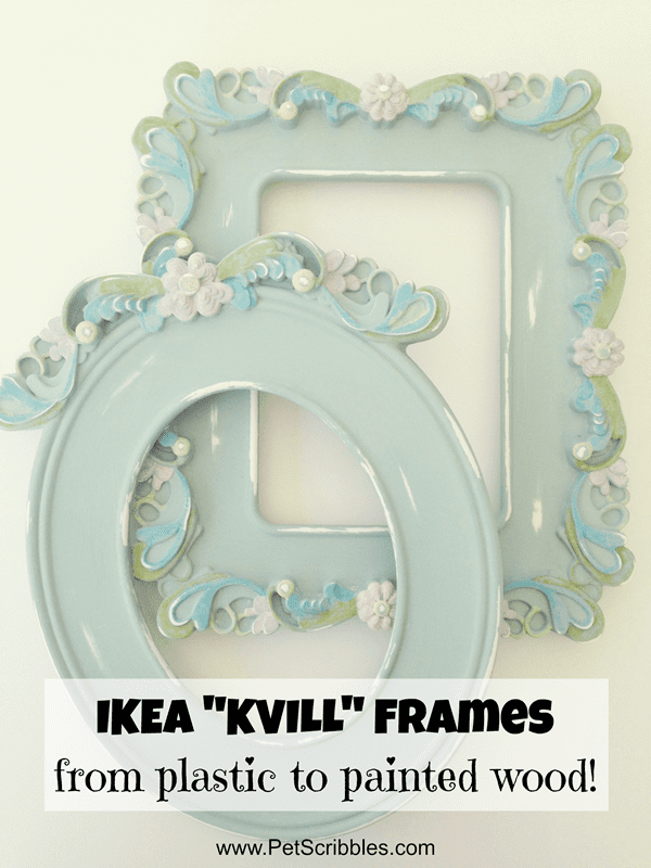 ikea kvill frames a makeover from plastic to painted wood ikea kvill frames from plastic