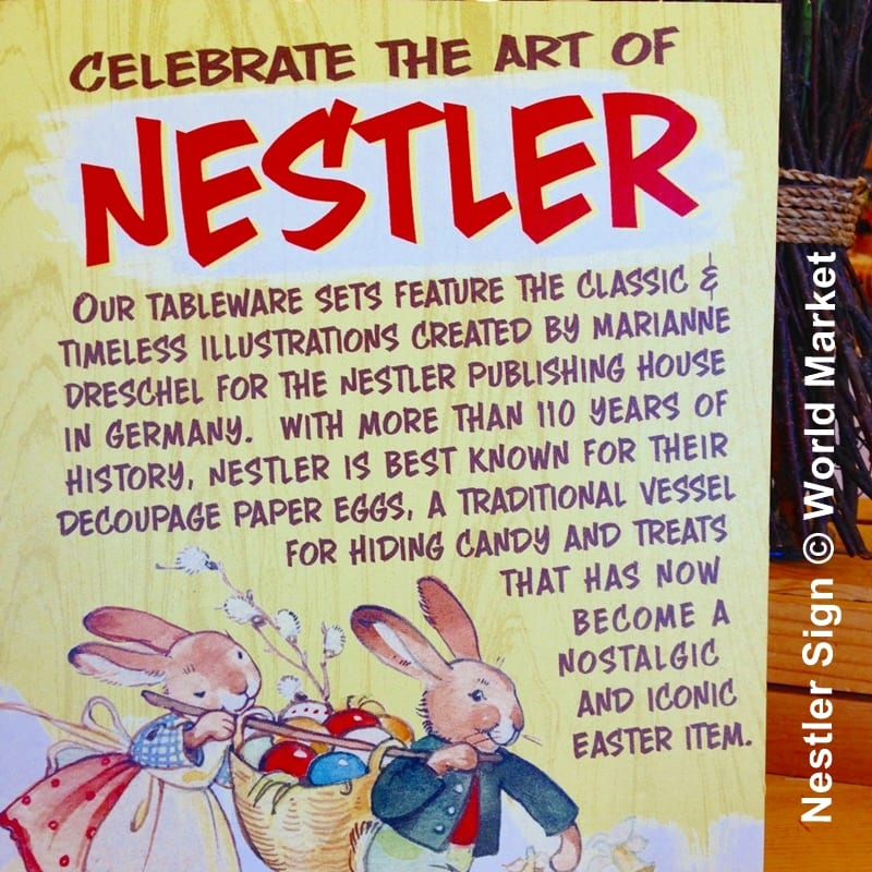 Nestler Sign from World Market