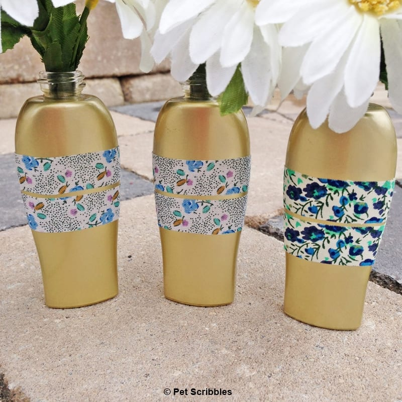 ROC Serum bottles recycled into vases